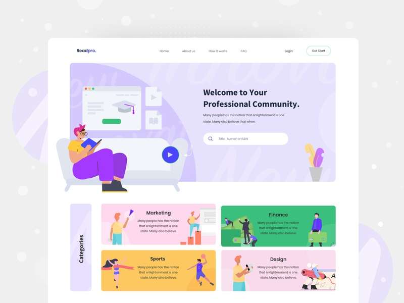 Online learning web exploration v3 homepage website design book ux userinterface colors learning platform online learning illustraion clean layout landing page concept visual ui interface exploration web minimal