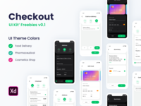 Checkout Free UI KIT - For Adobe XD adobexd minimal design colors behance online store checkout shopping app online interface dribbble ux