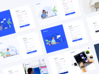 Sign Up Onboarding - Free UI Kit colors interface dribbble adobexd adobecare uxdesign free tech illustrator freelance minimal fresh signin signup uikit ui freebies