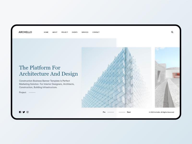 Archello Minimal Interface website design building builder architecture interior web behance design minimal interface dribbble ux ui