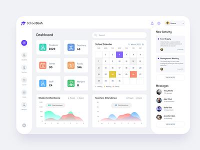 SchoolDash website design interface dribbble minimal ux ui web dashboard school