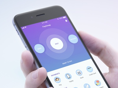 PaySwap - Collections andriod ios flat pay payment ux ui minimal apps banking