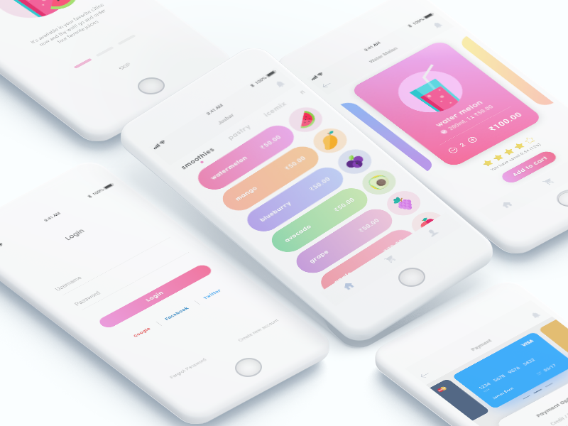 Jusbar - Collection free download  iphone iphonex freekit adobefree ux ui uikit free minimal apps