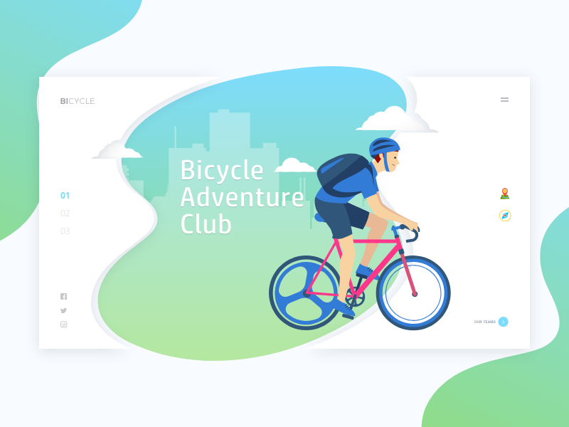 Bicycle Adventure Club inspiration ux flat members sports web ui adventure club bicycle