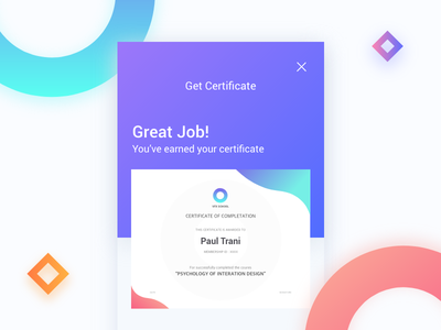 Get Certificate student prints pattern illustrations graphic graduate certificates cards