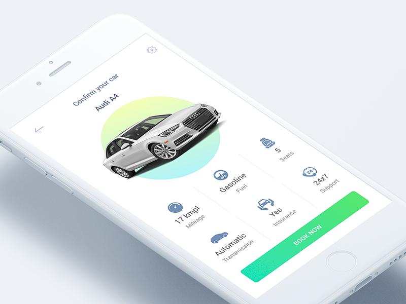 Car Rental App website ui rent mobile page landing download concept clean rental car app