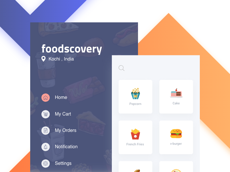 Foodscovery food delivery ui ux restaurants filter online order app ios