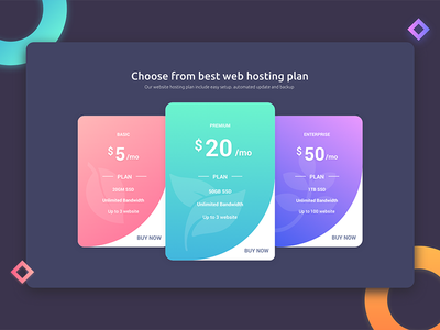 Pricing Page price plan choose rate offer web ui ux interface