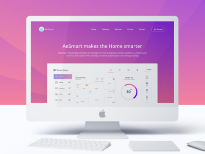 IOT Smart Home - Landing Page