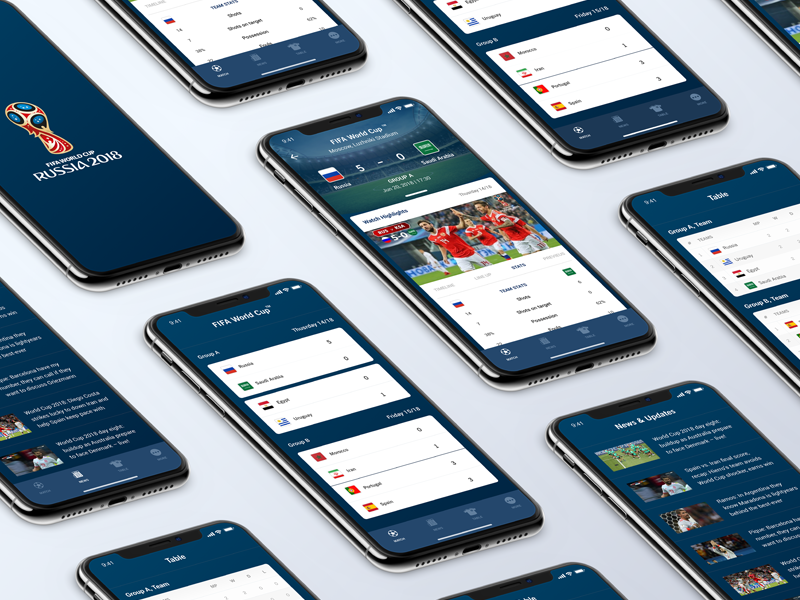 FIFA World Cup Russia - 2018 app iphonex ios ux ui russia 2018 worldcup fifa