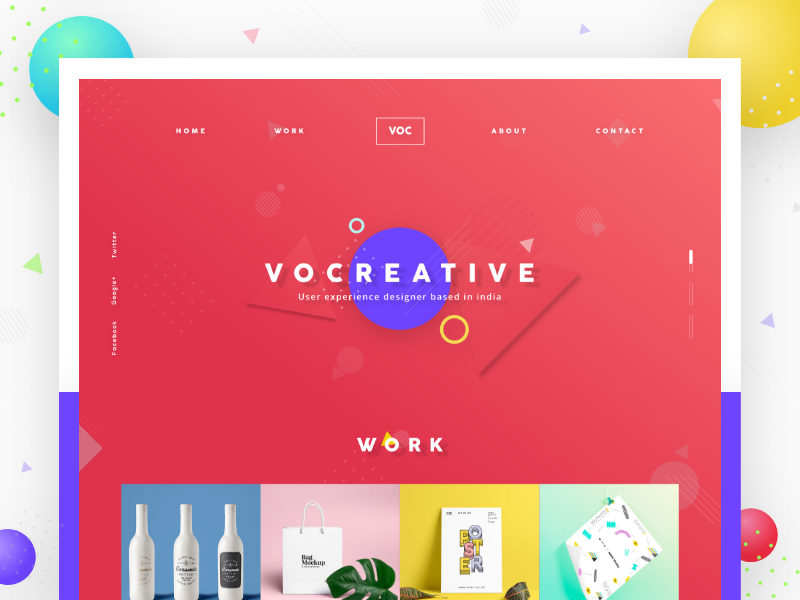 VOC Creative - Portfolio website ux app interface web ui portfolio