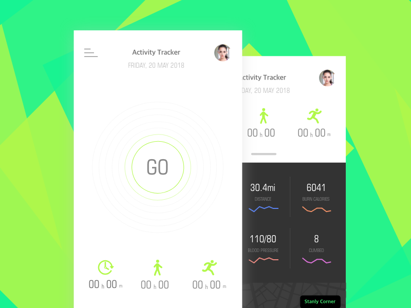 Fitness App - Redesign runner fitness plan track ios ui ux
