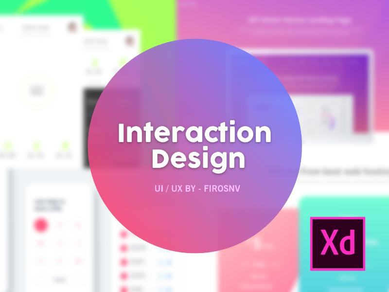 20+ Interaction Design Shots Made with Adobe XD CC interaction deisgn ui ux web layout projects ios android