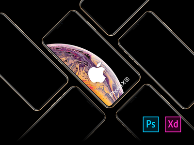 Free iPhone XS, XR, XS Max Mockups behance dribbble colors design minimal interace ui  ux free app apple ios ui freebies download mockup mockup bundle freedownload iphone xr iphone xs