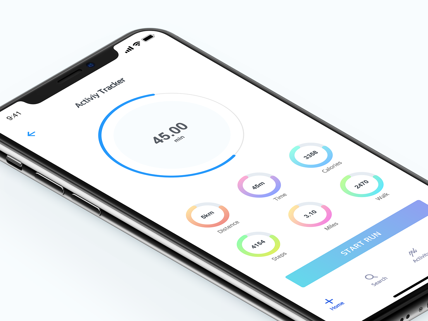 Activity Monitor running app run activity icon interface online minimal design medical health colors apps dribbble app ui ios ux