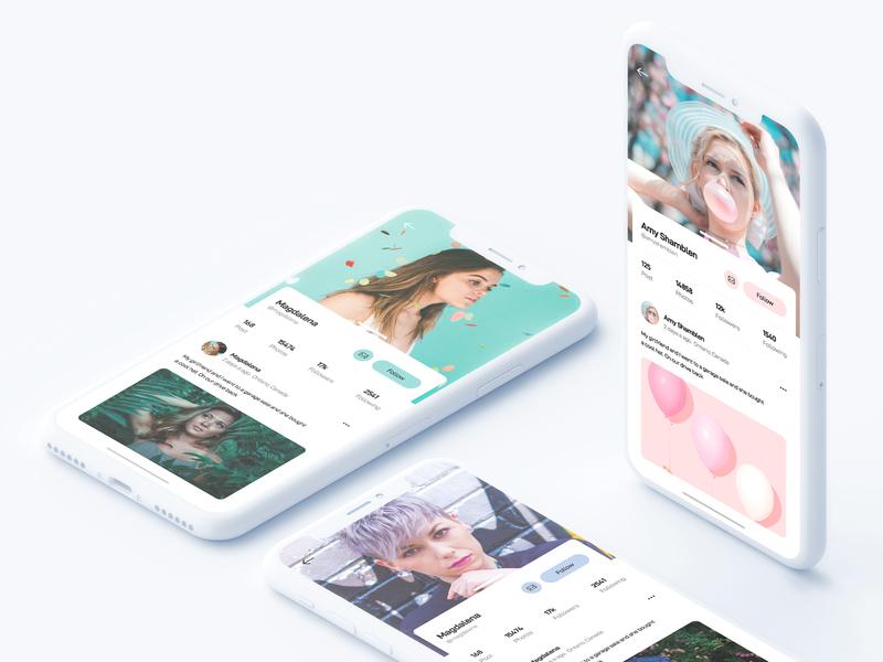 🎁 Freebies - Adobe XD social app user profile icon design web minimal colors apps interface dribbble app ios ux ui