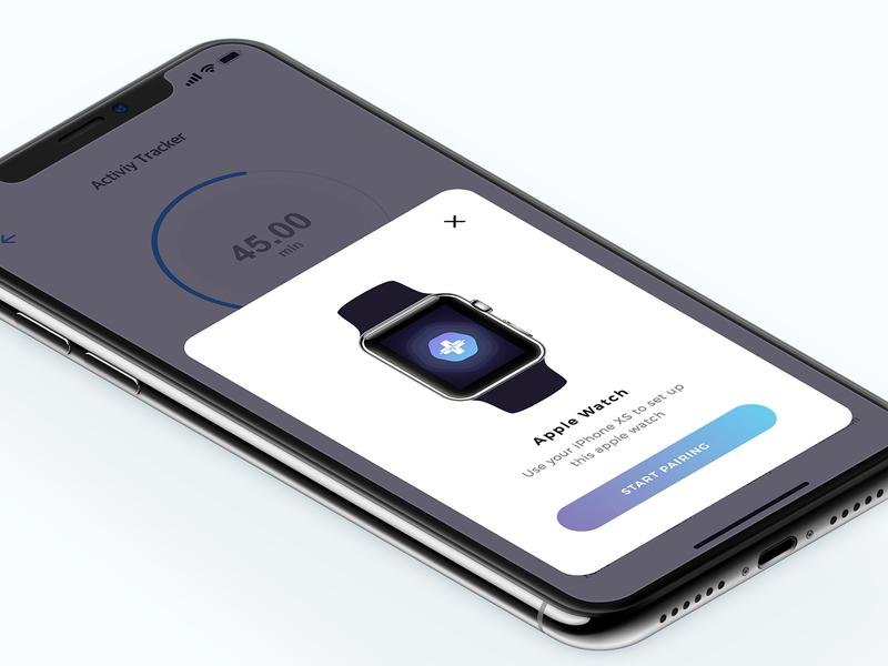 Pairing apple watch - Activity Monitor design health medical minimal apps interface dribbble app ios ux ui pairing