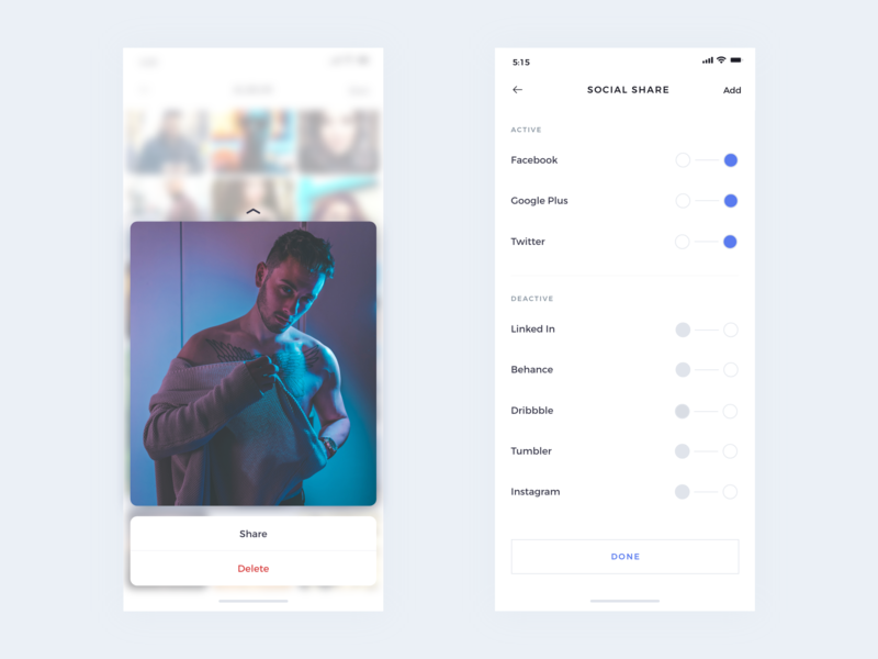 Social Sharing Minimal design colors vector illustration app ux minimal app clean interface interface design uplabs behance dribbble social minimal ios uiux ui share