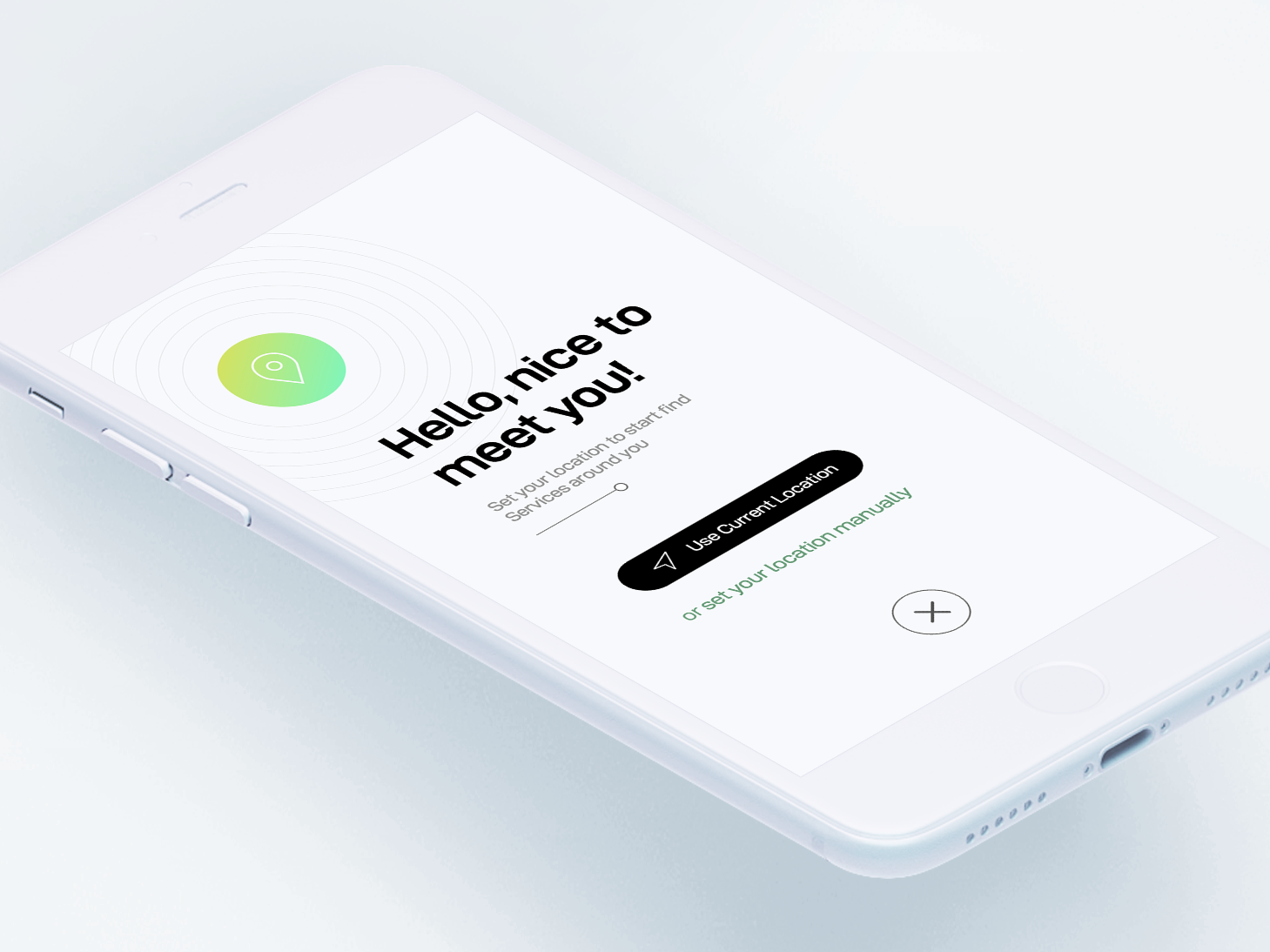 Hello, nice to meet you...! minimal apps interface dribbble app ios ux ui