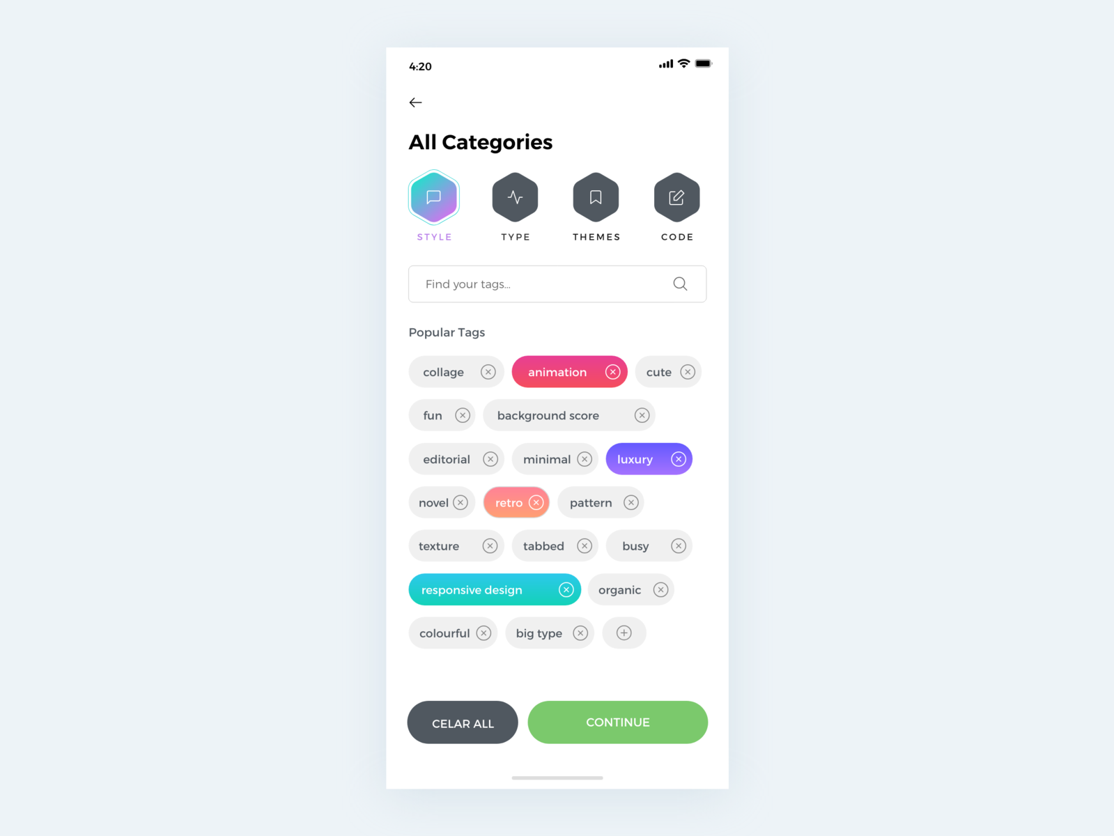 All Categories typography apps vector illustration design icon behance suggestion tag tags colors minimal interface dribbble app ios ux ui