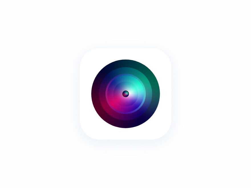Camera app icon branding vector logo illustration icon design apps minimal interface dribbble ios ux ui
