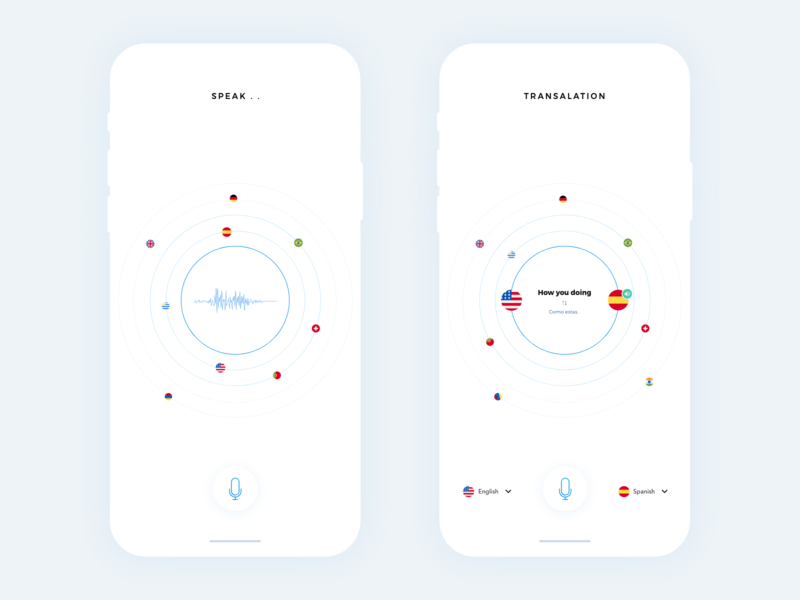 Translation App Minimal vector illustration flat logo branding animation typography icon apps behance colors design minimal interface dribbble app ios ux ui