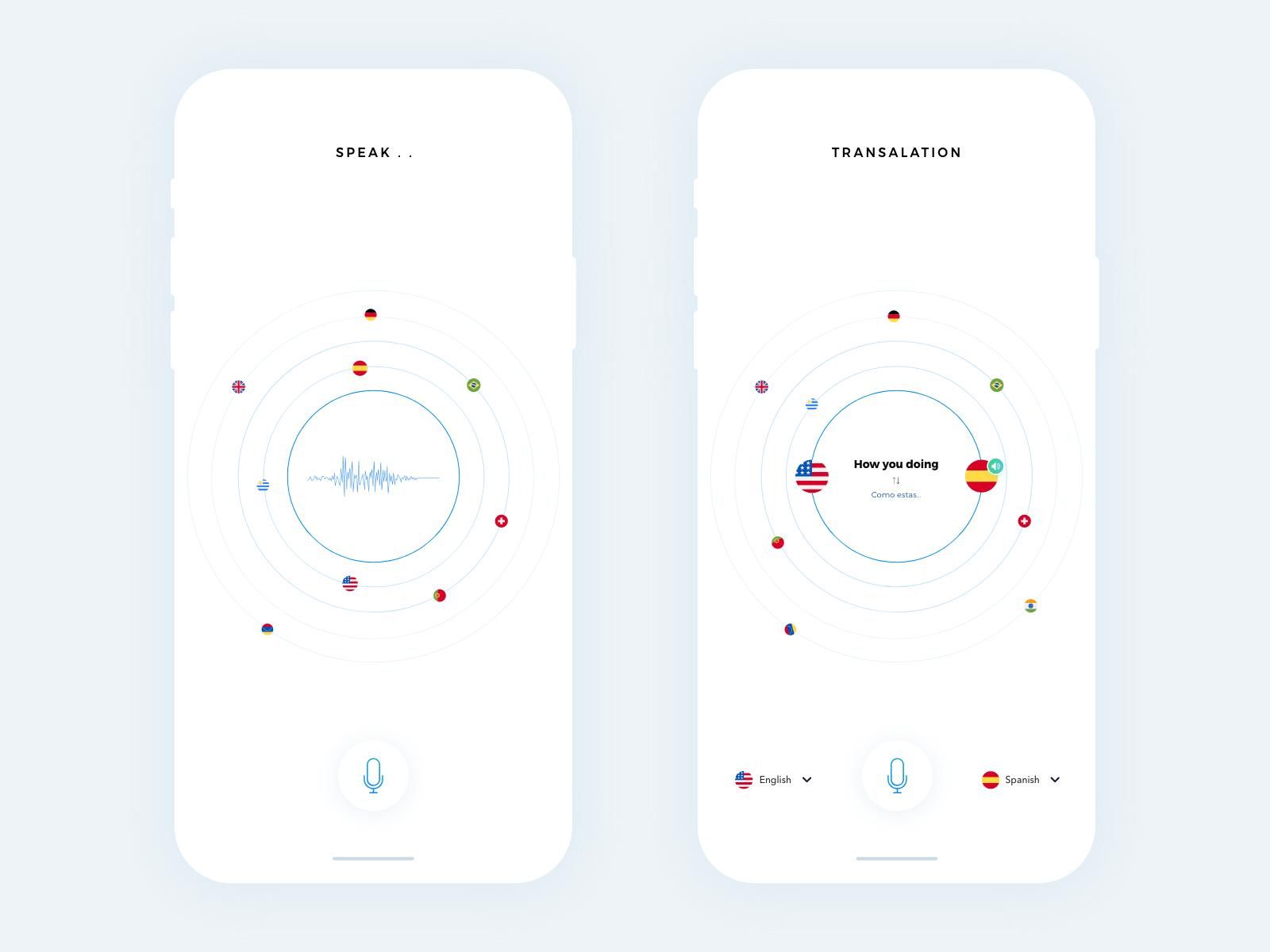 Translation App Minimal vector illustration flat logo branding animation typography icon apps behance colors design minimal interface dribbble app ios ux ui