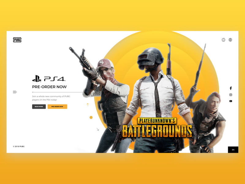 PUBG - Web Interface adobexd game app game pubg branding typography web vector illustration behance colors design minimal interface dribbble ux ui