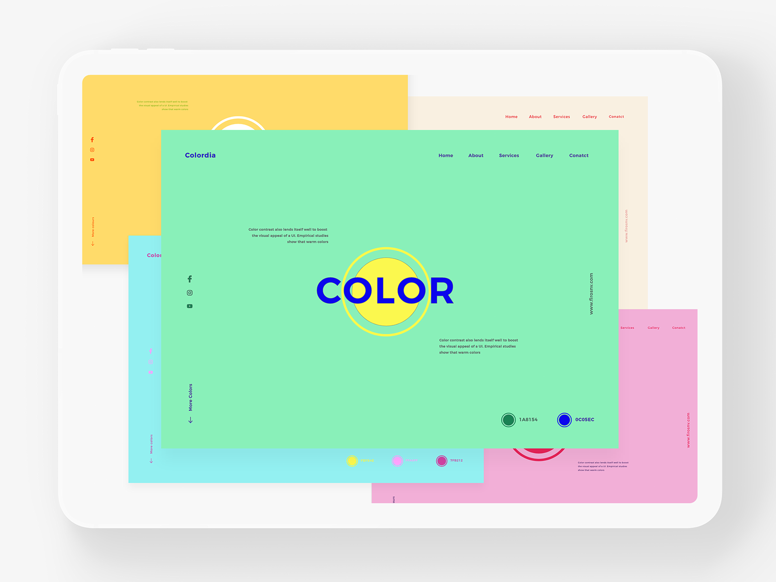 Color Schemes inWeb Design 2019 yellow blue ios branding typography vector icon illustration behance web colors design minimal interface dribbble colorpalette color ux ui