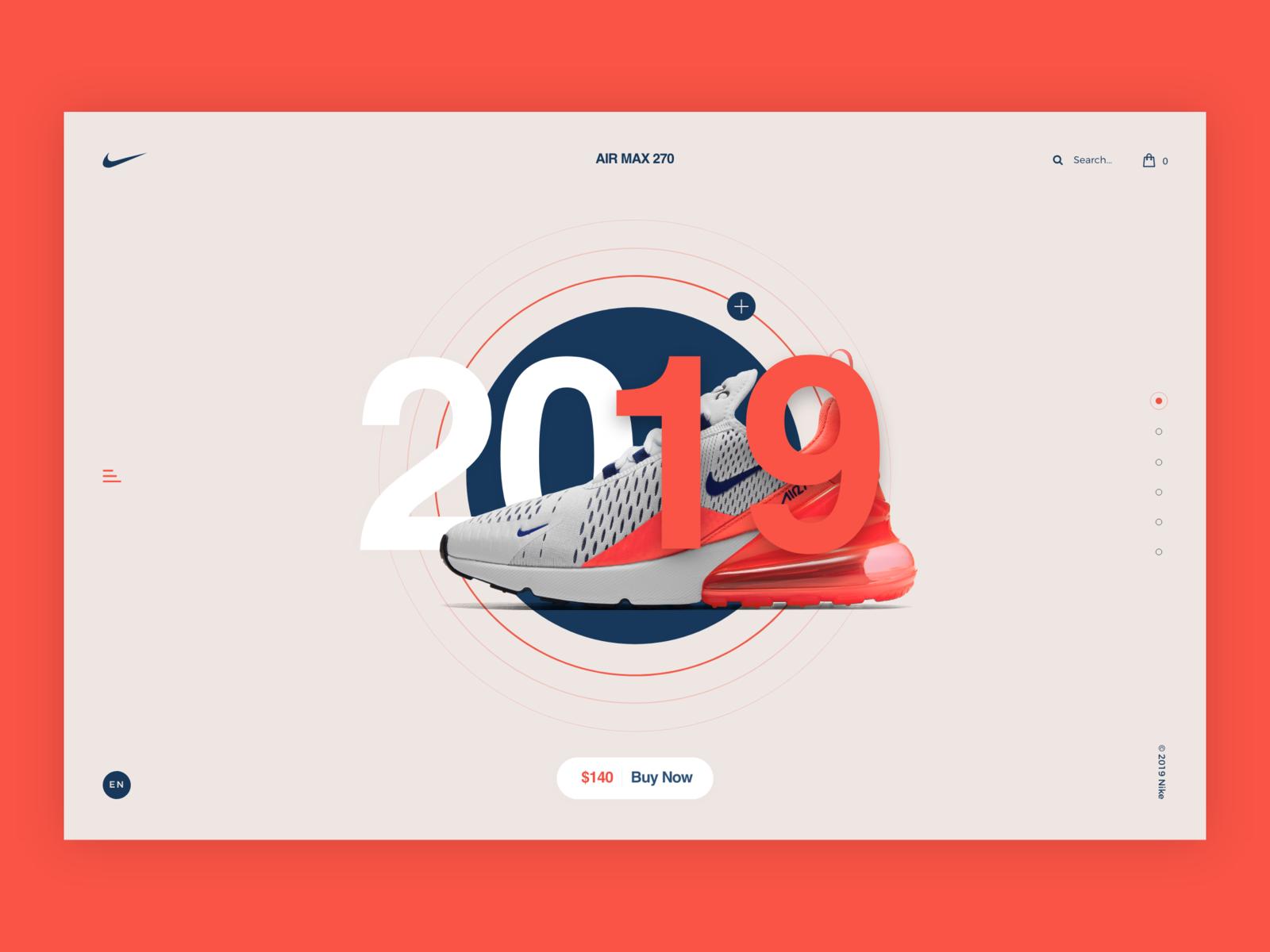 Nike 2019 typography app shoe nike air max nike web vector branding illustration behance colors design minimal interface dribbble ux ui