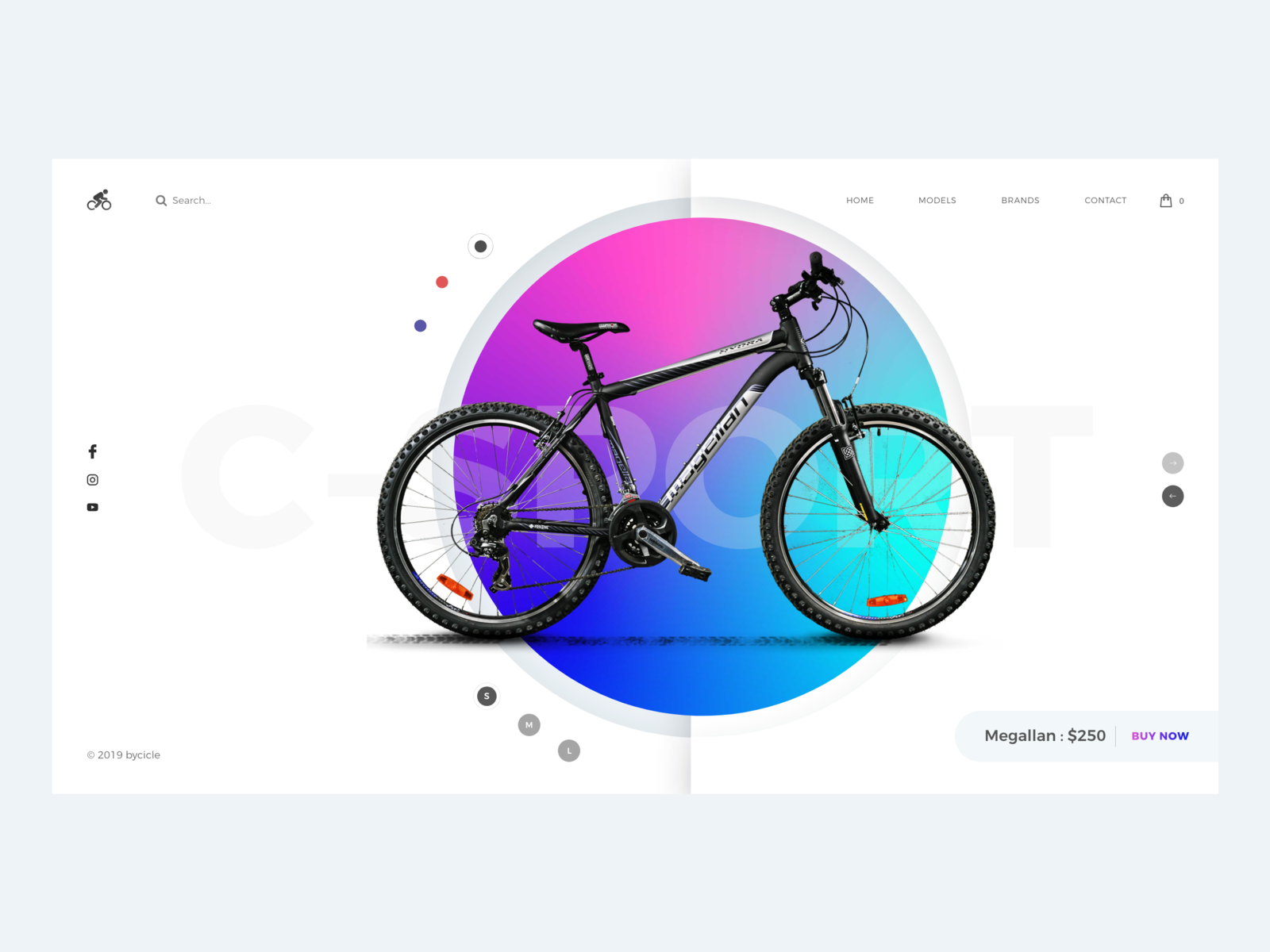 Bicycle Shop bicycle web branding vector icon illustration behance minimal colors design interface dribbble ux ui