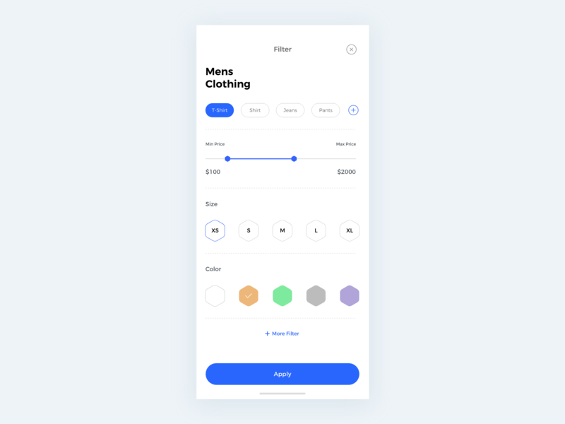 Filter Option filters filter illustration ios apps behance colors design minimal interface dribbble ux ui