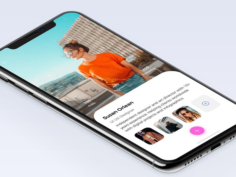 Designer Profile designer profile colors behance apps minimal design interface dribbble ios ux ui