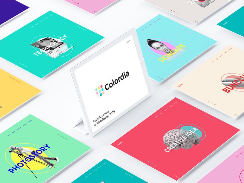 Colordia - Color Schemes inWeb Design 2019 colorscheme vector illustration behance web colors design minimal interface dribbble ux ui