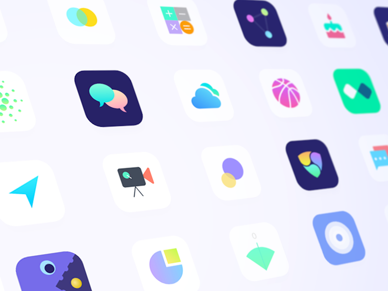 App Icons made by Adobe XD adobexd design branding logo flat vector icon illustration behance app apps colors minimal ios interface dribbble ux ui