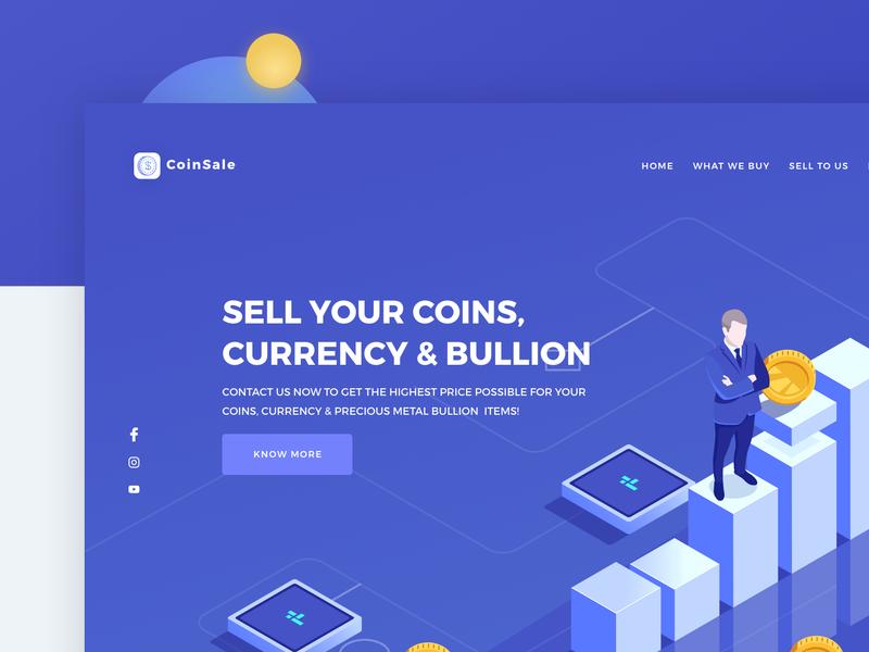 Freebies - Coin Sale Website website flat type animation icon branding web colors typography illustration behance design minimal interface dribbble ios ux ui