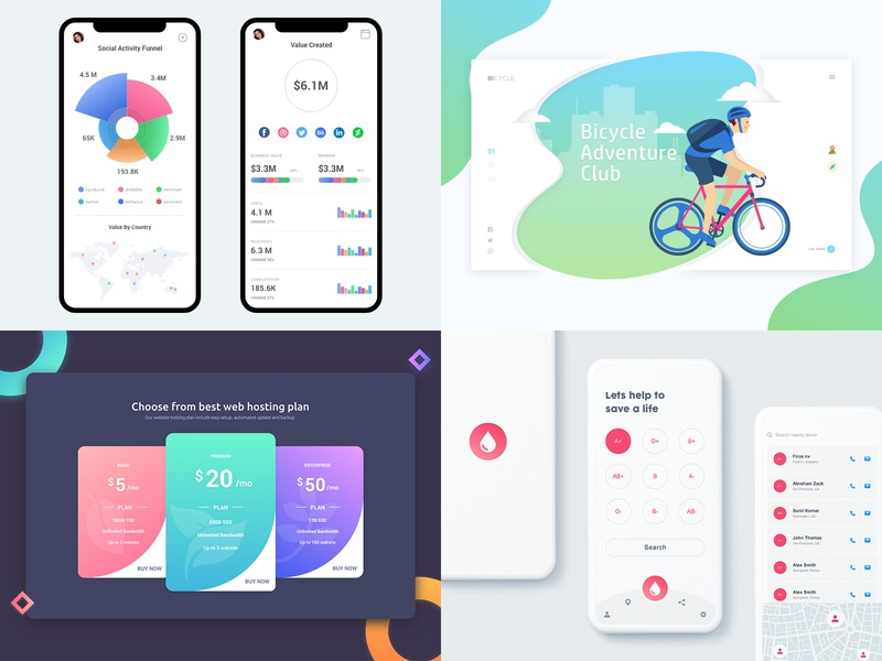 2018 flat icon apps app illustration behance colors design minimal interface dribbble ios ux ui