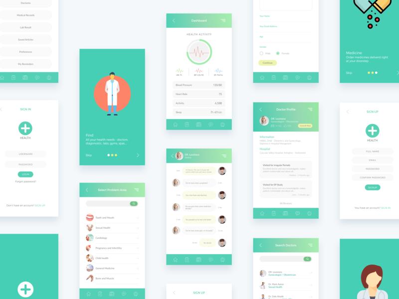 Medihub - Digital Health booking uikit search doctor medical health design minimal interface dribbble ios ux ui