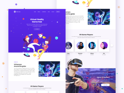 VR' Gamers dribbble web behance apps colors design minimal interface virtual reality ux ui