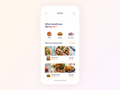 Foodby food app food illustration behance apps app ios design minimal dribbble ux ui