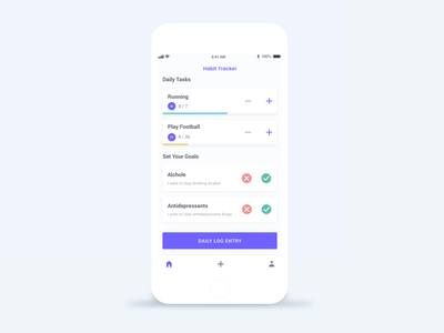 Habit Tracker - Minimal behance illustration interface ios colors minimal design dribbble ux ui
