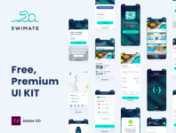 Swimate UI Kit apps web behance design dribbble minimal interface android ios ux ui uikit