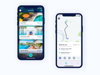 Swimate - Route design minimal illustration behance apps app interface dribbble ux ui