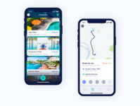 Swimate - Route design minimal illustration behance apps app interface dribbble ux ui
