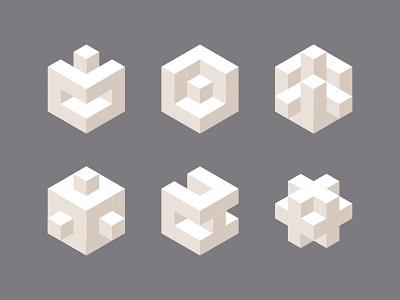 石膏立方 painting vector illustration ui, geometry