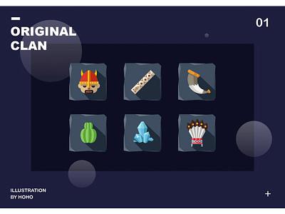 [ 原始部族 ]- 原创icon ui illustration vector painting icon