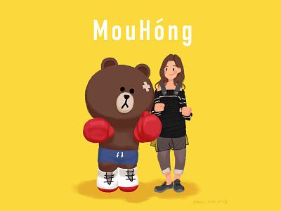 熊和牟红 illustration 插图