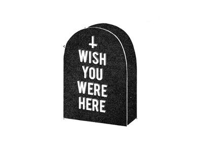 rudestone spooky typography halloween grave headstone tombstone