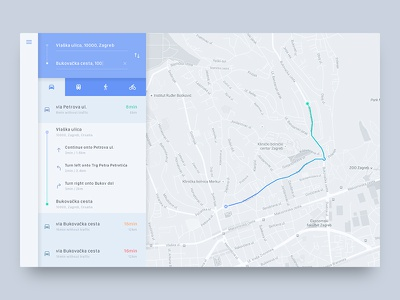 Directions Module UI Challenge material design map web popup minimal flat directions module component simple clean app