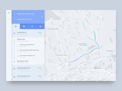 Directions Module UI Challenge material design map web popup minimal flat directions module component simple clean app